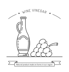 wine vinegar sauce vector image