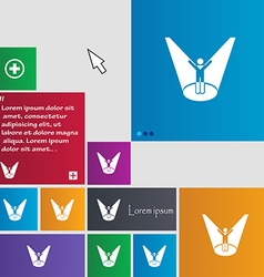 Spotlight icon sign buttons Modern interface vector image
