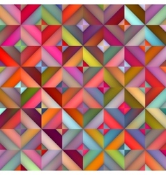 Seamless multicolor shades gradient rhombus vector