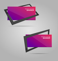Abstract banner with frame vector