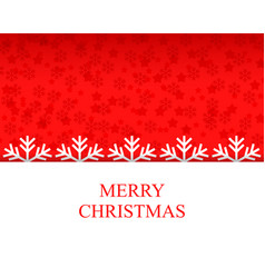 Christmas congratulation card with snowflakes vector