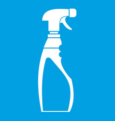 Sprayer bottle icon white vector