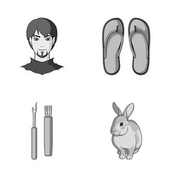 Vacations hobbies a hairdresser and other vector