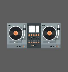 dj mixer icon modern music recorder concept vector image