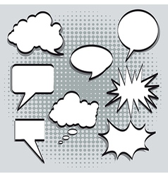 Text balloons vector