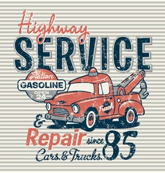 Highway service station vector image