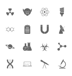 Science silhouette icons set vector