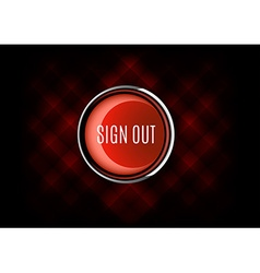 Sign out button vector