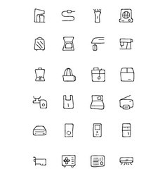 Electronics hand drawn doodle icons 4 vector