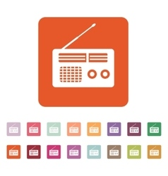 The receiver icon radio symbol flat vector