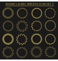 Round wreath set vector