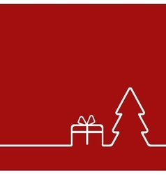 Merry christmas background with christmas tree and vector