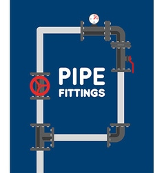 Pipe fitting set pipeline pipe fitting for repair vector