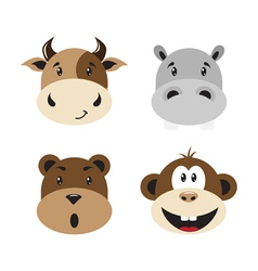 Animal smiles vector