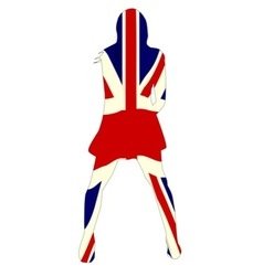 Union jack girl vector