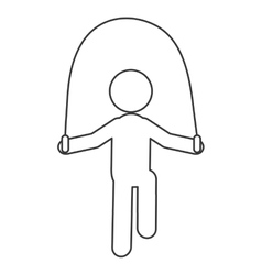 Person jumping rope pictogram icon vector