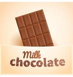 Bar of milk chocolate vector image