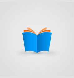 book icon simple and clean vector image vector image