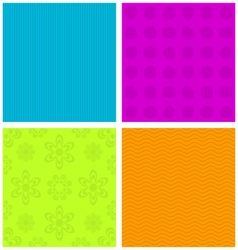 Colorful ornamental patterns vector image vector image