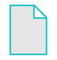 File type icon blank sign vector