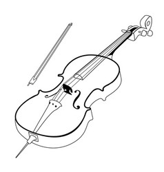 isolated cello outline vector image