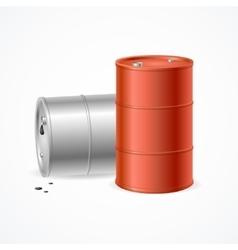 Oil Barrel Drums vector image