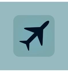 Pale blue plane icon vector image vector image