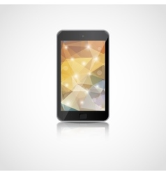 realistic smart phone vector image vector image