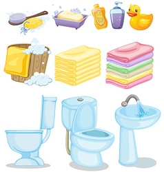 Set of bathroom equipments vector image vector image