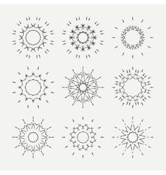 Simple monochrome geometric abstract symmetric vector image vector image