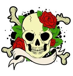 skull tatoo vector image