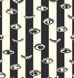 Striped seamless eye pattern in the bohemian style vector