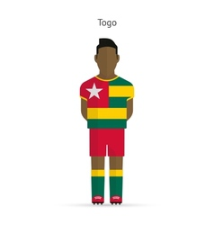 Togo football player Soccer uniform vector image vector image