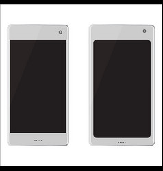 Two realistic mobile devices vector