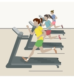 Women at the gym vector