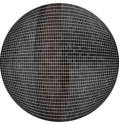 Black ball in mosaic vector