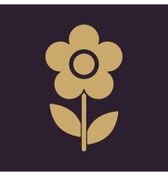 The flower icon nature symbol flat vector