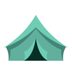 Turquoise tent icon isolated vector