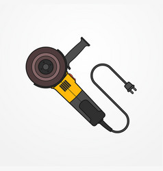 Electric angle grinder image vector