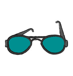 Summer black sunglasses vector