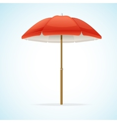 Beach umbrella vector