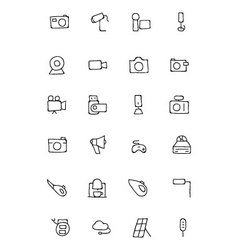Electronics hand drawn doodle icons 5 vector