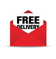Free delivery envelope vector