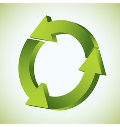 Refresh recycle icon vector