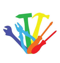 colorful tools vector image