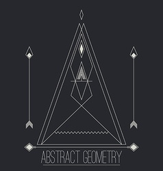 Simple separate abstract geometric figure with vector