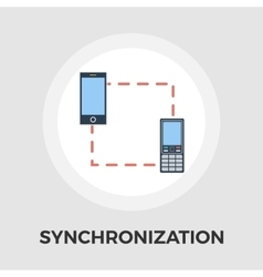 Phone sync flat icon vector image