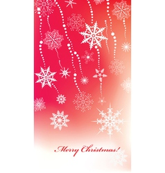 Christmas background with snowflakes vector