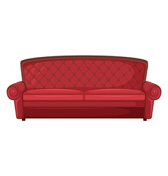 A red sofa vector image vector image