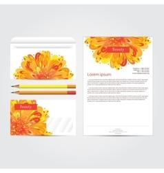 Beauty salon corporate identity template set vector image vector image